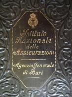 BARI ASSICURAZIONE   INA  COMM. ARTURO AMI  PERIODO REGNO D'ITALIA  PORTATESSERE IN PELLE NERA - Europa