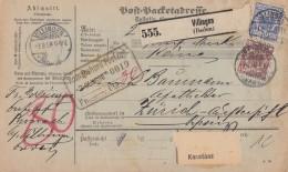 DR Paketkarte Mif Minr. 47 SR, 48, 50 Villingen Gel. In Schweiz - Deutschland