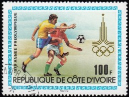 IVORY COAST - Scott #524 Moscow '80 Olympic Games, Soccer / Used Stamp - Summer 1980: Moscow
