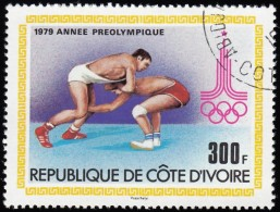 IVORY COAST - Scott #526 Moscow '80 Olympic Games, Wrestling / Used Stamp - Summer 1980: Moscow