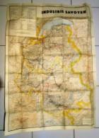 Carte Geogaraphique D'état Major De L'armée Allemande Le Savoyen Savoie Guerre 39/45 - Geographical Maps