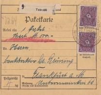 DR Paketkarte Mif Minr.2x 191,2x 3x 194 SST Teinach 20.7.77 - Briefe U. Dokumente