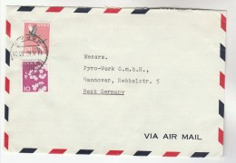 1966 Air Mail JAPAN COVER Stamps From Nihon Yakin Kagaku Kogyo Ltd  To Germany - 1926-89 Emperor Hirohito (Showa Era)