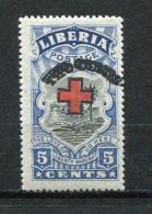 Liberia 1918 Red Cross  Double Overprint On Two Cent MNH ERROR - Liberia