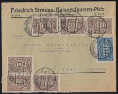 DR Brief Mif Minr.253,6x 254 Kaiserslautern 30.8.23 - Briefe U. Dokumente