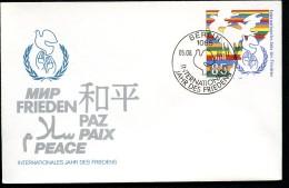 DDR U5 JAHR DES FRIEDENS Sost. 1986  Kat. 5,00 € - Private Covers - Mint