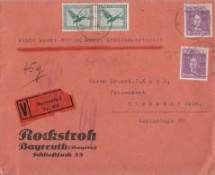 DR Wertbrief Mif Minr.2x 378, 2x 395 Bayreuth - Deutschland