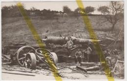 02 AISNE CREPY COUVRON AUMENCOURT Canton De MARLE ARTILLERIE  CANON  CARTE  PHOTO ALLEMANDE MILITARIA 1914/1918 WK1 WW1 - Autres Communes