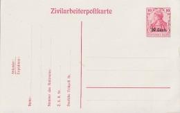 Etappengebiet West Zivilarbeiterpostkarte Minr.P7 Postfrisch - Besetzungen 1914-18