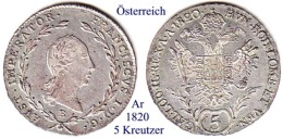 Österreich-1820 B, 5  Kreutzer - Austria