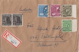 Gemeina. R-Brief Mif Minr.922,928,2x 943,950,954 Eutin 20.12.47 - Gemeinschaftsausgaben