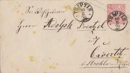 NDP Ganzsachen-Umschlag 1 Groschen Nachv. Stempel K1 Triptis 10.8.70 - Norddeutscher Postbezirk