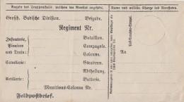 Baden Vordruck Eines Feldpostbriefes Postfrisch - Baden