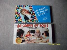 5 Jeux: Halma-le Plus Malin-le Mot Le Plus Long-la Clé-le Compte Est Bon - Group Games, Parlour Games