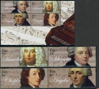 2009 - IRLANDA / IRELAND - ANNIVERSARI MUSICISTI / ANNIVERSARIES MUSICIANS. MNH - 1949-... Repubblica D'Irlanda