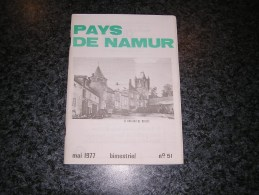 PAYS DE NAMUR Revue N° 51 Régionalisme Berzée Marlagne Wavreille Armée Impériale 1814 Namèche Ernest Tonet - Belgium