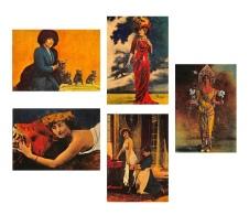 LOT De 6 CPM - ARTISTES 1900  - Sarah Bernard - Colette - Cleo De Merode - Gaby Deslys -C.Sorel -dos Vierge   - 2 Scans - Artistas