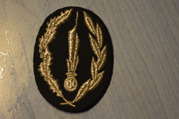 Insigne De Casquette Feutrine Pour Officier De La Police Nationale --- Pour Collection Et Collectionneur - Police