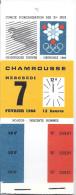 Xes JEUX OLYMPIQUES D'HIVER  GRENOBLE  7 -11-14 FEVRIER 1968-CARNET DE 3 :  DESCENTE HOMMES-SLALOM HOMMES-SLALOM SPECIAL - Eintrittskarten
