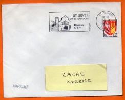 ST SEVER    ABBATIALE DU XI°  FOIES GRAS  28 / 3 / 1966  Lettre Entière N° BB 433 - Marcophilie (Lettres)