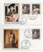 Italia - 1982 - Tematica Arte - Pittura - Lotto Due Buste FDC - 1791/1882 - Francesco Hayez - Pittore - (FDC1072) - FDC