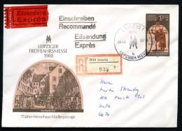 FAUST MEPHISTO DDR U8 Umschlag EINSCHREIBEN EILSENDUNG Leipzig - Halle 1988 - Théâtre