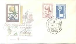CONGRESO INTERNACIONAL DE TURISMO  BUENOS AIRES 1957  TARJETA 1ER DIA DE EMISION  ARGENTINE ARGENTINA - Vacaciones & Turismo