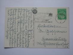 GERMANY 1941 POSTCARD WITH LUFTPOST ILLUSTRATED SLOGAN POSTMARK HAMBURG `ERICH LIMPACH` - Briefe U. Dokumente