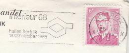 1968 BELGIUM Stamps COVER SLOGAN  Pmk INTERIEUR 68 HALLEN KORTRIJK - Belgium