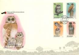 1987  Owls -  Complete Set On Single  Unaddressed  FDC - Zimbabwe (1980-...)