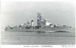 ESCORTEUR D´ESCADRE CASABIANCA PHOTOGRAPHE TOULON MARIUS BAR MARINE NAVIRE DE GUERRE PAQUEBOT BOAT TRANSPORT BATEAU - Oorlog