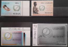 SUDAN 2002 Mi. 558-560 Complete Set 3v. MNH - Eradicate Guinea Worm - Cv 40$ - With ERROR - Sudan (1954-...)