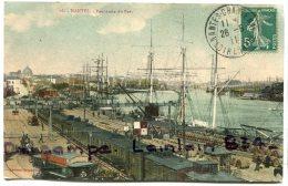- 16 - NANTES - Panorama Du Port, écrite, 1911, Wagons, Peu Courante Avec De La Couleur,  Animation, Scans.. - Nantes