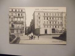 A399. CPA. 76. DIEPPE. La Villa Bristol Et La Rue De Lamorinière. .beau Plan Animé. Non écrite - Dieppe