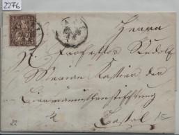 1866 Sitzende Helvetia/Helvétie Assise 30/22 - Stempel: Basel 9.März 66 - Lettres & Documents