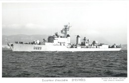 ESCORTEUR D´ESCADRE D'ESTREES PHOTOGRAPHE TOULON MARIUS BAR MARINE NAVIRE DE GUERRE PAQUEBOT BOAT TRANSPORT BATEAU - Warships
