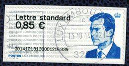 Luxembourg Vignette Oblitérée Grand Duc Henri Sur Fragment SU - Automatenmarken