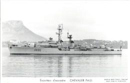 ESCORTEUR D´ESCADRE CHEVALIER PAUL PHOTOGRAPHE TOULON MARIUS BAR MARINE NAVIRE DE GUERRE PAQUEBOT BOAT TRANSPORT BATEAU - Guerre
