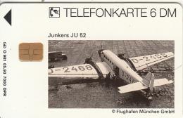 GERMANY(chip) - Junkers JU 52(O 981), Tirage 7000, 05/93, Used - Flugzeuge