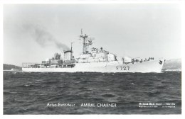 AVISO ESCORTEUR AMIRAL CHARNER PHOTOGRAPHE TOULON MARIUS BAR NAVIRE DE GUERRE PAQUEBOT BOAT TRANSPORT BATEAU - Warships