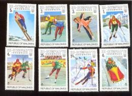 MALDIVES ; MINT N.H. STAMPS ; SCOTT # 613-20 ;  IGPC 1976 (  OLYMPIC ; INNSBRUCK - Maldive (1965-...)