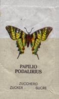 SWITZERLAND : Sachet De Sucre/Sugar Package: VLINDER,PAPILLON,BUTTERFLY,   ## Papilio Podalirius @ Argynnis Paphia ## - Sucres
