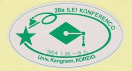 (ST) Sticker - Glumarko - 28th ILEI Congress In South Korea - 28a ILEI-Konferenco En Koreio - 1994 - Esperanto
