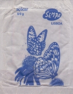 PORTUGAL : Suikerzakje/Sachet De Sucre/Sugar Package: VLINDER,PAPILLON,BUTTERFLY,  §§ SEMPA, Lisboa §§ - Sucres