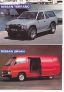 1 Lot De Cartes Nissan  - Véhicules Utilitaires - Camionette  - 4 X 4 Etc... - Voitures