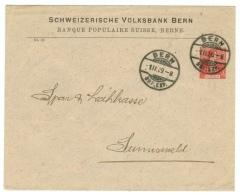 Suisse // Schweiz// Switzerland// Entiers Postaux // Entier Postal Privé Au Départ De Bern Pour Sumiswald 01.02.1909 - Entiers Postaux