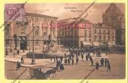 CPA ITALIE Catania Piazza  Duomo Viaggiata 1906 - Catania