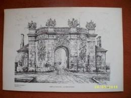 La Porte Du Pont à VITRY LE FRANCOIS Signée - Prints & Engravings