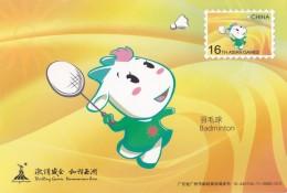 Badminton - A Yi, Mascot Of The 16th Asian Games 2010, Guangzhou Of China, Prepaid Card