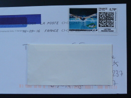 Natation Swimming Timbre En Ligne Sur Lettre (e-stamp On Cover) TPP 3256